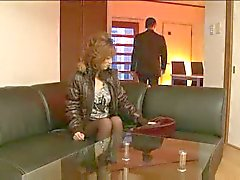 Blonde milf likes pantyhose and hard cock