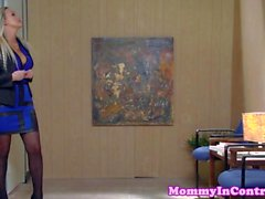 Stepmom pussyfucking with anal teen in trio