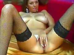 Big boobs geek girlfriend outdoors in lingerie fingers