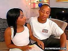 This lucky guy gets to fuck his girlfriend AND her mom at