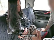Amateur MILF babe tricked by a taxi driver