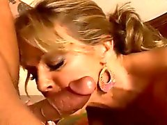 Blonde milf eaten out and fucked