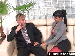 HumiliatedMilfs - Horny secretary loves a cock up her ass
