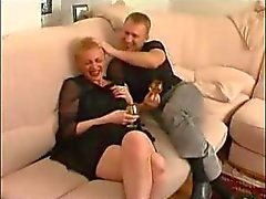 mature russian hot auntie with boy