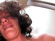 Natural horny mom slit banged to orgasm