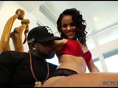 Irresistible ebony princess gives BJ