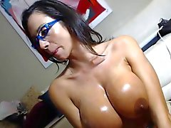 Wife Oral with her glasses on