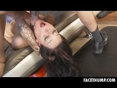 Harley Rose Gets Her Head Held And Face Fucked Roughly