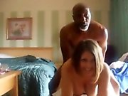Busty cheating wife fucked by a black dude