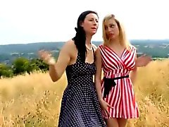 Strapon lesbian brit milf