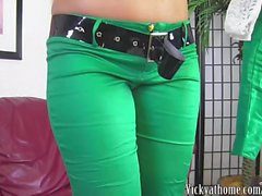 An Anal St Pats! Big Titted MILF Vicky Vette Sticks Toy In Her Ass!