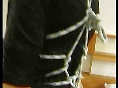Two horny moms get tied up and teased