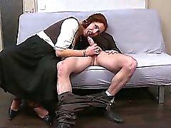Ginette a redhead milf deepthroated