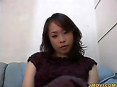 Hot milf babe Reiko shows off her big ass in pantyhose