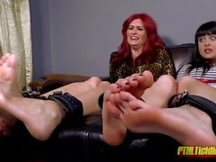 Mother/Daughter Tickle Captives!