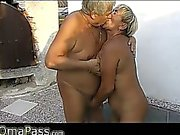 Two old men fucking very old BBW Granny
