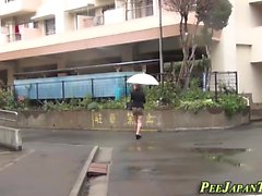Asians make piss puddles