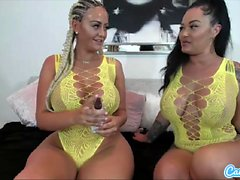 Hot webcam video with the famous Danii Banks and her friend