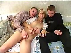Russian Mom With Two Boys