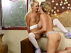 Teens and MILFs Licking Pussies Cherie DeVille, Alina West