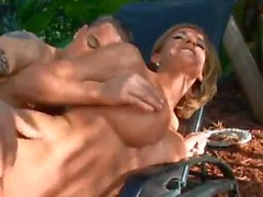 Blistering hot milf body sex outdoors