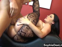 Buxom Brit Sophie Dee Loves Cum on Her Pussy