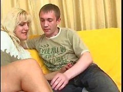 Russian Milf Anal Fucking with Boy BVR