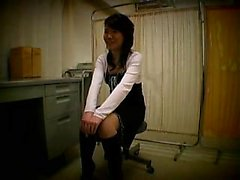 Attractive Japanese teen has a kinky doctor tasting her hai
