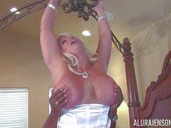 BBC creams into the sexy pussy of MILF Alura Jenson