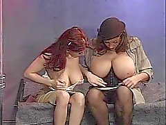 Babes with giant boobs play naughty together