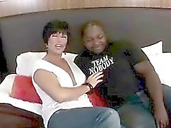 Big tits cougar wants her pussy to break with a black cock