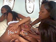 Stunning ebonies anal lesbian orgy