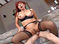 Redhead milf fucks youngster's dick
