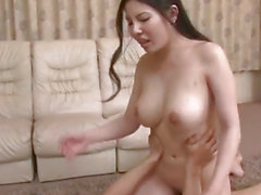 Obedient milf, Sofia Takigawa, fucked in rough threesome
