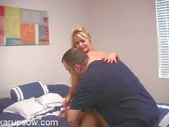 Busty blonde milf Angel getting nailed