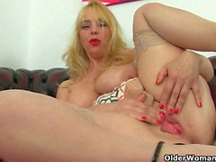 Milf Lucy Gresty is showing off Britain's best mature boobs