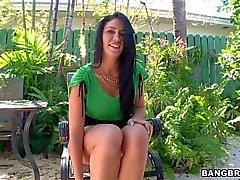 Beautiful milf Madison Rose Sucking dick in the backyard