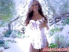 Sexy Milf Julia Ann Comes Over & Strips Down!
