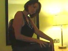 Lucy Zara in tight legging latex