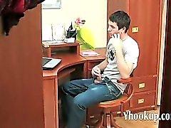 Russian MILF sucking stepson _ yhoo