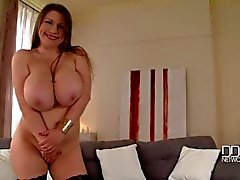 Russian Busty Goddess In Titty Shaking Solo Striptease