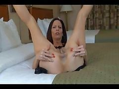 Kinky mom fondling her love holes