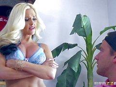 Alena Croft bouncing on a hard cock