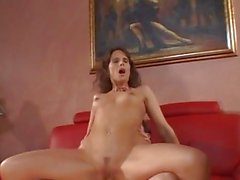 Syren Demer rides her hot pussy on this thick shaft