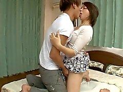 Japanese Boyfriend Fucks Girlfriend's Mom