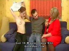 Mature Mother Teaches Son Sex