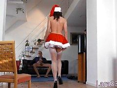 Xmas UK milf doggystyled for the holidays