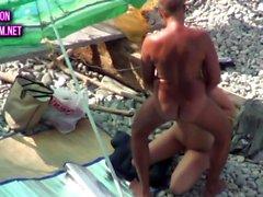Kamasutra on the beach doggy style 2