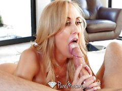 Sexy Mature busty Brandi Love rides hard dick