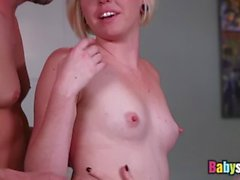 Busty inked MILF seduces her young nanny into wet threesome